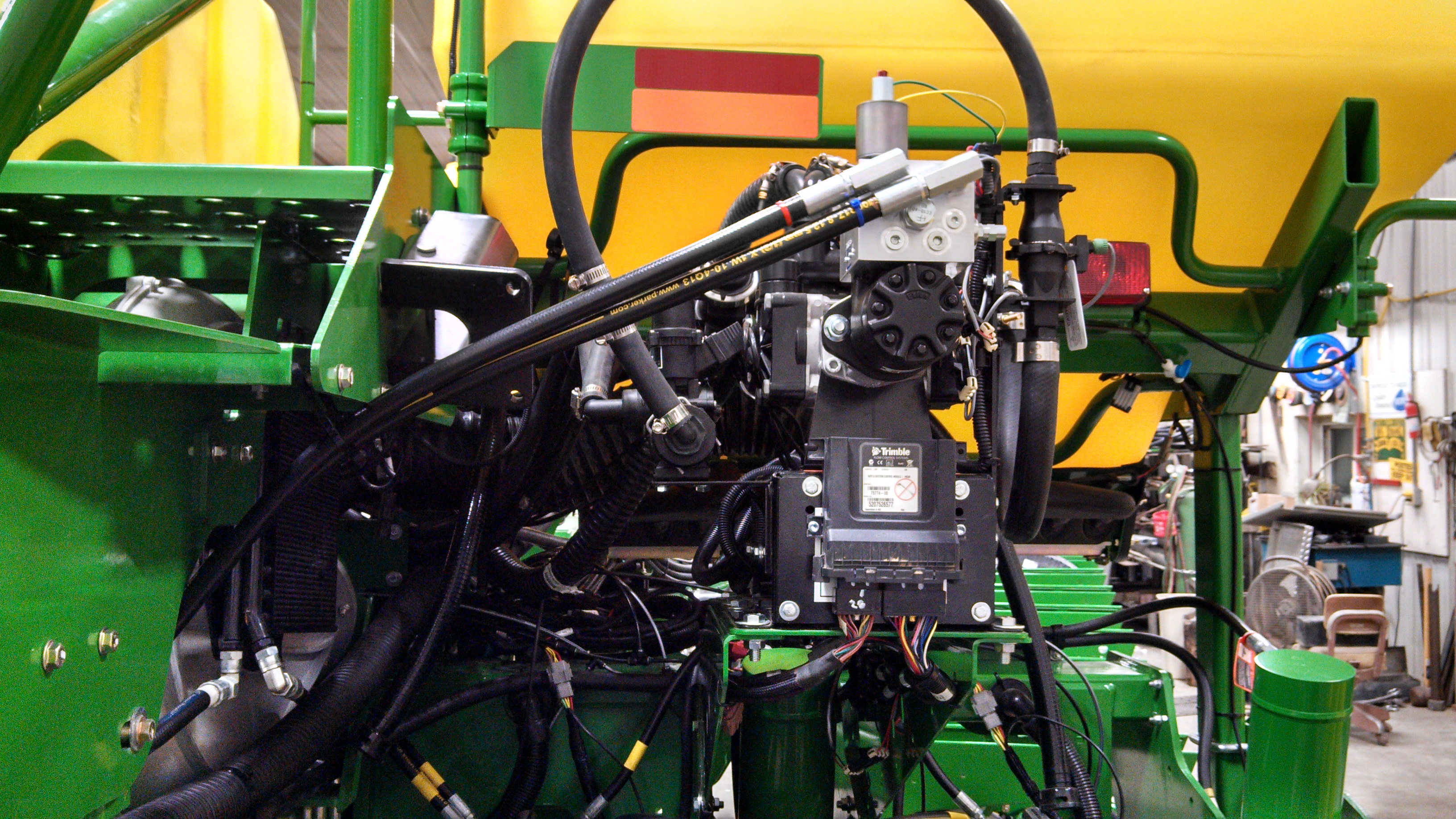 GX5 on rear of planter