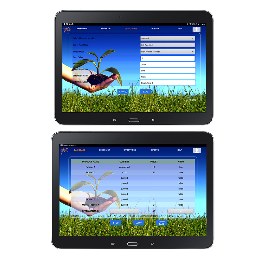 GX20 is controlled by tablet through Wi-Fi