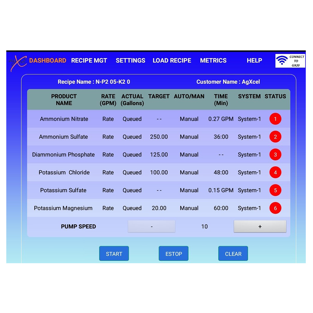 Gx20irr Fertigation Solution Agxcel Lenze Vfd Wiring Diagram Gx20 App Screenshot