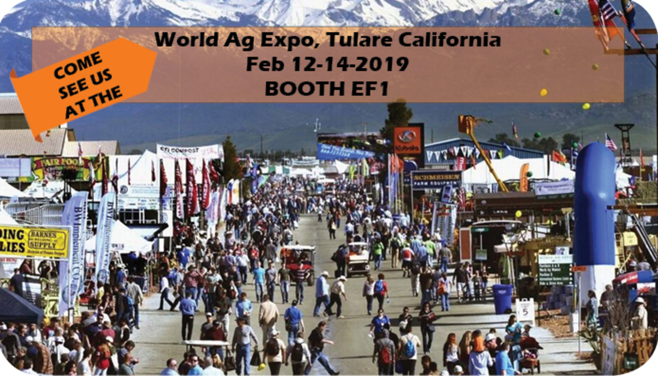 Come see Us at the World Ag Expo - Booth EF1