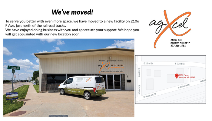 AgXcel has Expanded to a Larger Location!